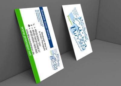 Visitenkarten, 4/4-farbig. Grafikdesign für Printmedien von vom hofe foto/design aus Gummersbach (NRW)