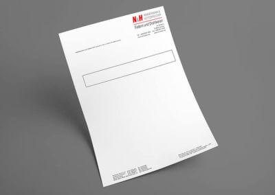 Geschäftspapiere, 2/0-farbig. Grafikdesign für Printmedien von vom hofe foto/design aus Gummersbach (NRW)